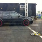 Standard VW Golf MK IV TDI vs tuned Golf GTI drag race