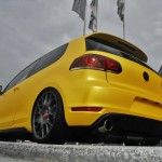 Sunflower yellow Volkswagen Golf VI GTI