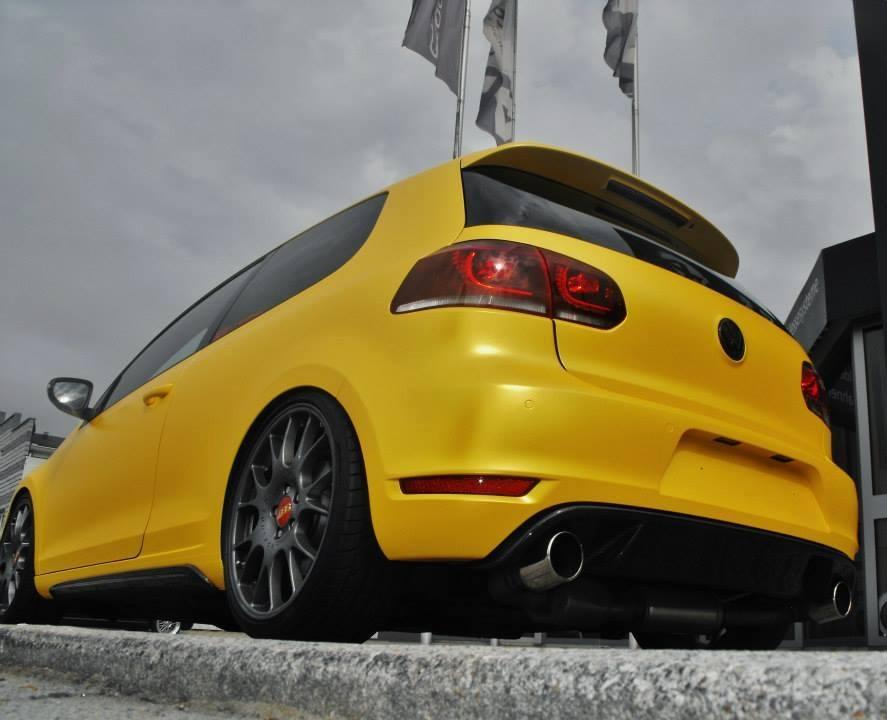 Sunflower-yellow-Volkswagen-Golf-VI-GTI