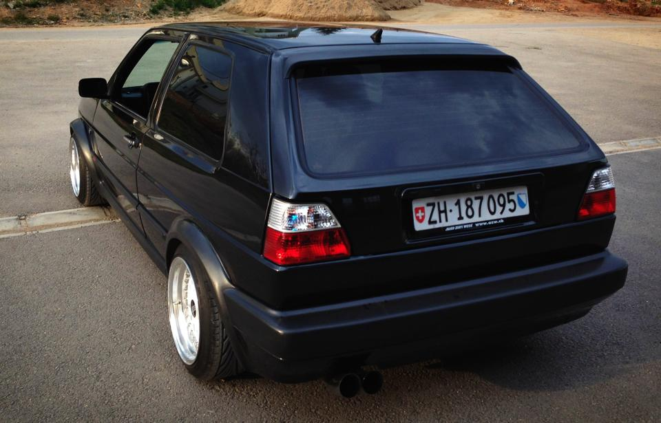 black-vw-golf-mkii