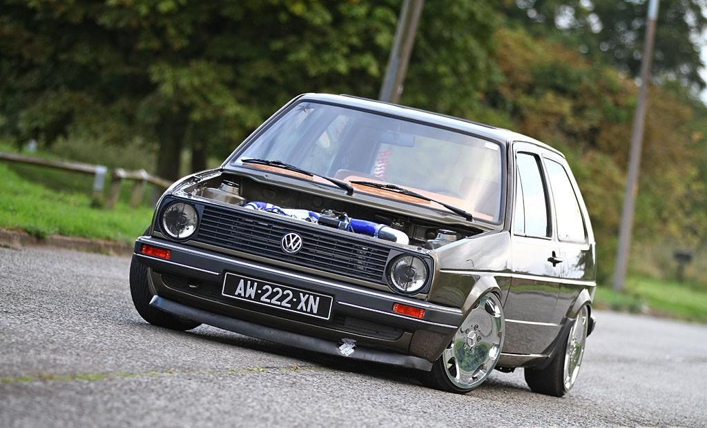 volkswagen golf mk2 g60 on silver mercedes rims vw golf tuning. Black Bedroom Furniture Sets. Home Design Ideas