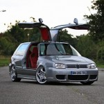 Silver VW Golf gull-wing Mk3