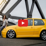Amazing-yellow-VW-Mk4-V6