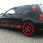 Black VW Golf Mk4 with red rims – Christian Schubert