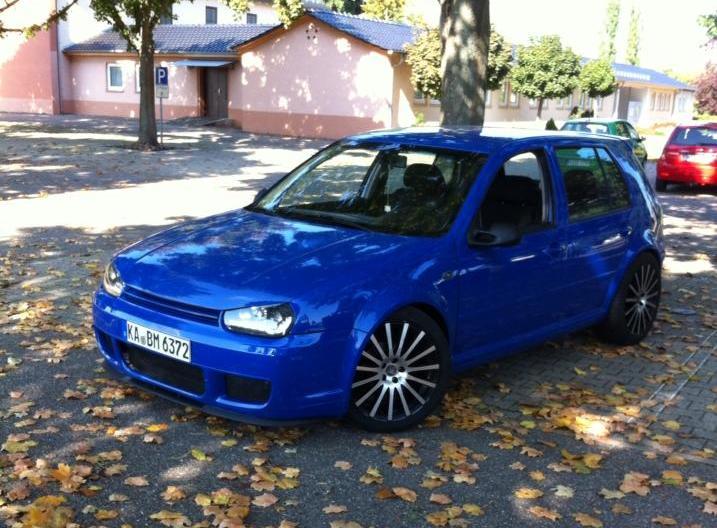 Blue Volkswagen Golf Mk4 Mergim Ba Vw Golf Tuning