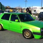 Green-VW-Golf MK-II-GTI