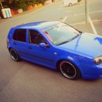 Nice-blue-VW-Golf-MK IV