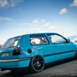Turquoise Volkswagen Golf Mk3