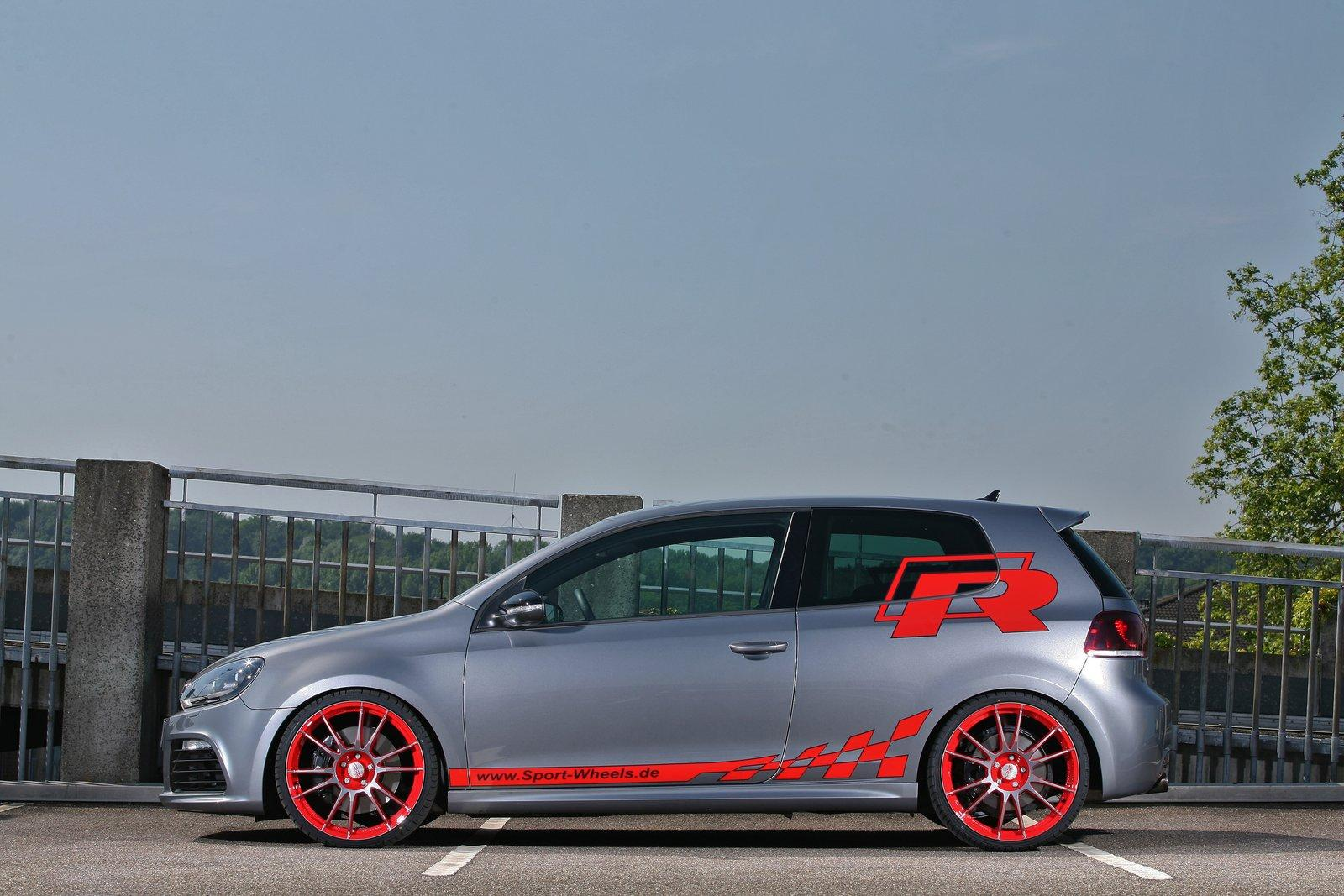 vw golf vi r with 330 hp by sport wheels vw golf tuning. Black Bedroom Furniture Sets. Home Design Ideas