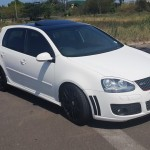 White VW Golf 5 GTI with black roof – Satvir Reuben Murray