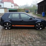 Black VW Golf MK IV with superb 20″ silver rims – Florian Pansa