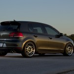 Black VW Mk6 GTI on silver wheels