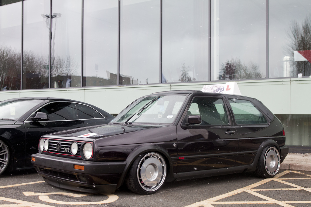 black-vw-golf-mk2-gti-on-silver-rims