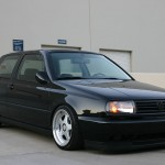 Black VW Golf Mk3 with Vento hood
