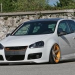 White VW Golf Mk5 GTI on Vossen wheels
