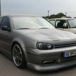 Grey VW Golf Mk4 with tinted windows