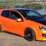Orange-black Volkswagen Golf GTI – Limi Mulaj
