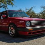 Red Volkswagen Golf Mk2