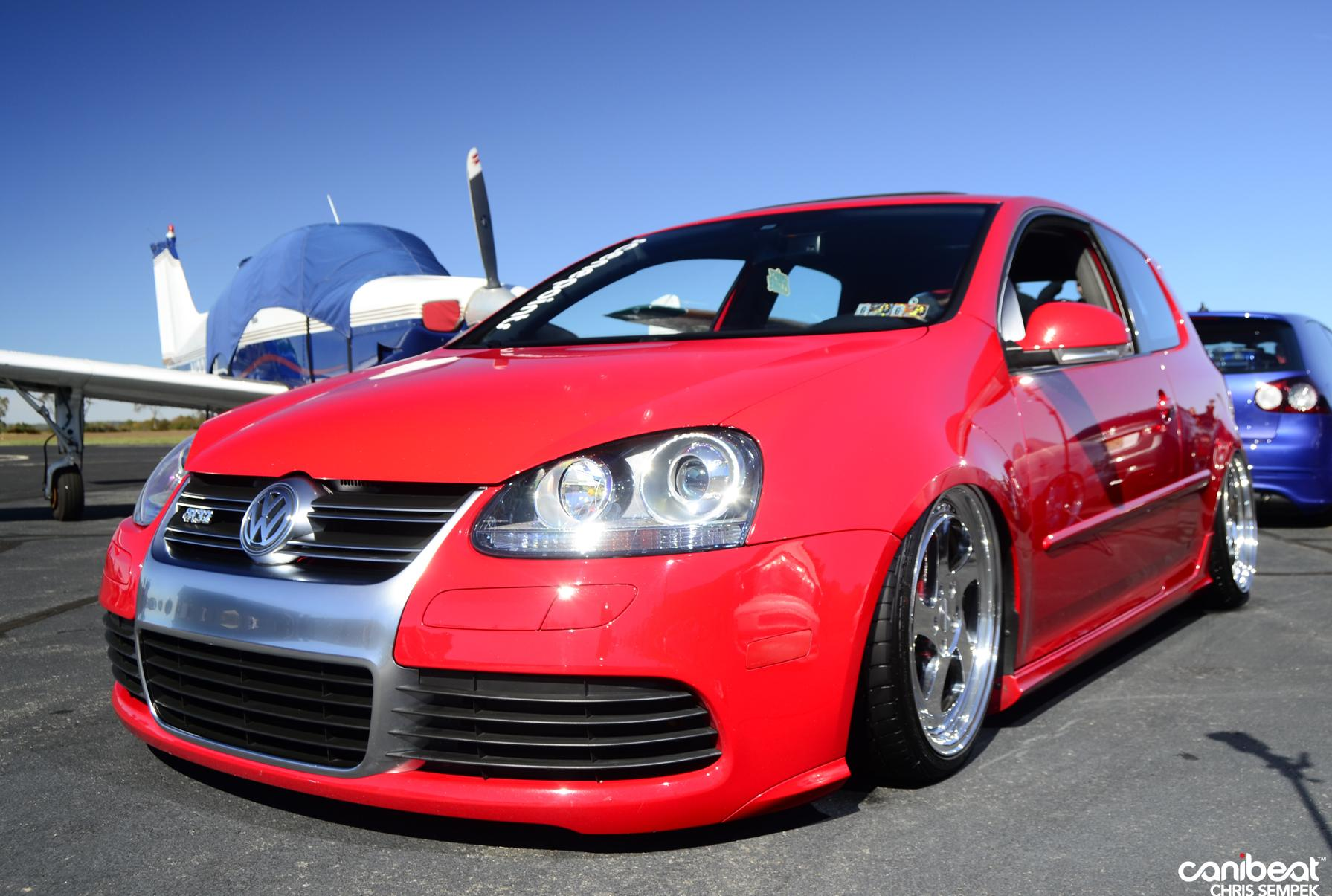 red vw golf mk5 r32 with silver wheels vw golf tuning. Black Bedroom Furniture Sets. Home Design Ideas
