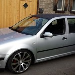 Silver VW Golf MK4 with black roof – Benedict Kittner