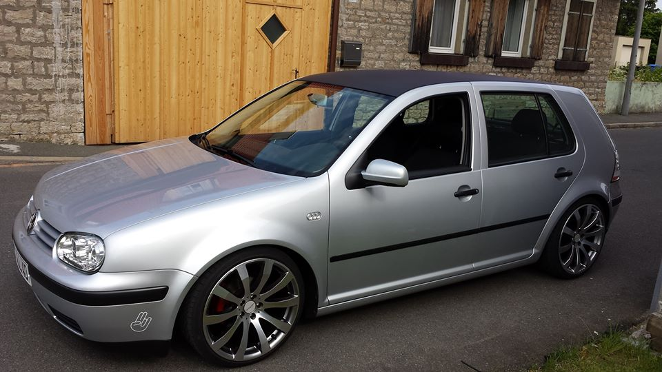 Silver Vw Golf Mk4 With Black Roof Benedict Kittner Vw