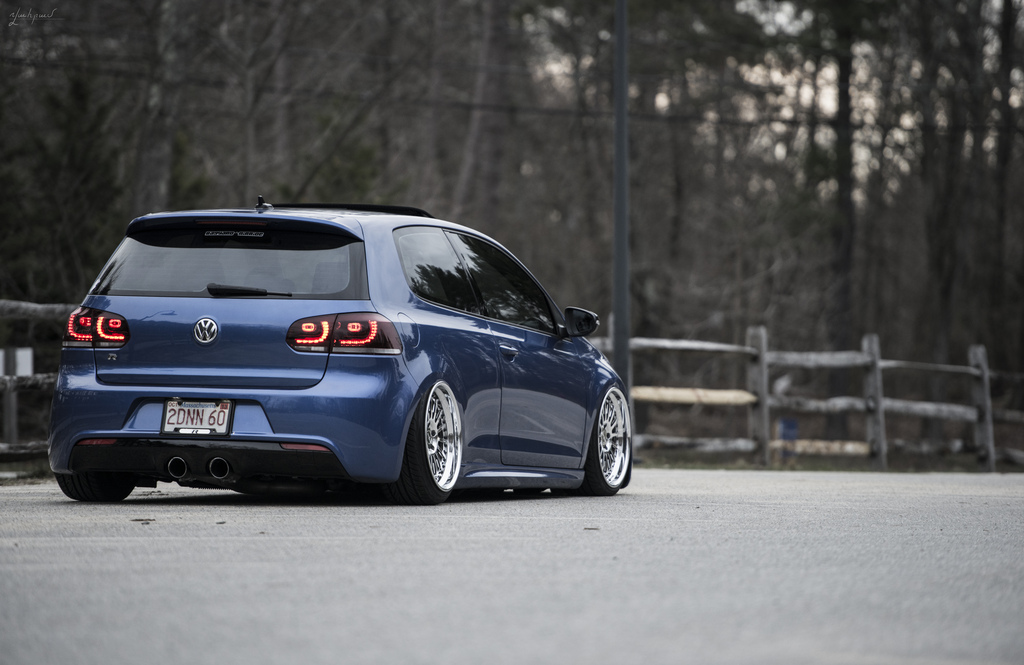 blue vw golf vi r with silver wheels vw golf tuning. Black Bedroom Furniture Sets. Home Design Ideas