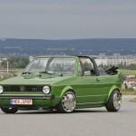 Green Volkswagen Mk1 cabrio