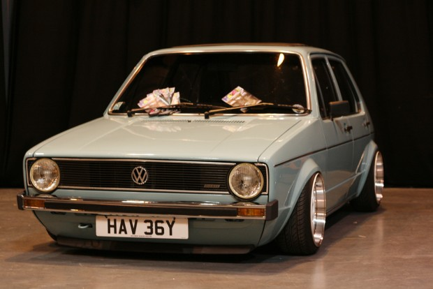 baby blue vw golf mk  silver wheels vw golf tuning