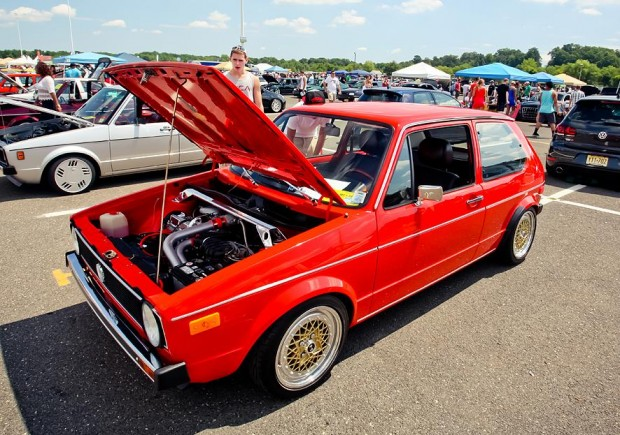 Red Volkswagen Golf Mk1 | VW Golf Tuning