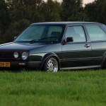 Black VW Golf Mk2 GTI with OZ Racing Turbo wheels