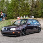 Brown VW Golf Mk3 VR6 on Alfa Romeo rims