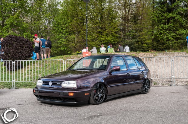Brown Vw Golf Mk3 Vr6 On Alfa Romeo Rims Vw Golf Tuning