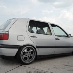 Silver VW Mk3 with Porsche wheels