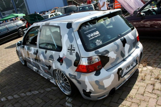 Vw Golf Mk4 In Camouflage Paint Vw Golf Tuning