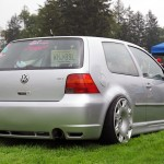Silver VW Golf Mk4 GTI on Bentley rims
