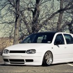 White VW Mk4 with black roof