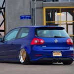 Blue VW Mk5 R32 on BBS Super RS rims