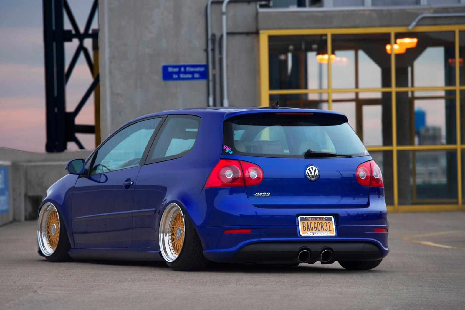blue vw mk5 r32 on bbs super rs rims vw golf tuning. Black Bedroom Furniture Sets. Home Design Ideas