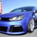 Blue metallic VW Golf Mk6