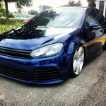 Blue VW Golf Mk6 with Bentley wheels