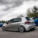 Silver VW Golf Mk6 on silver Porsche wheels
