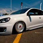 White VW Golf Mk6 GTI on BBS rims