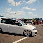 White Volkswagen Golf Mk6 on silver rims