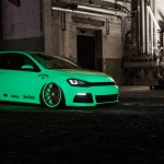 Neon Green VW Golf Mk7