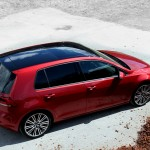 Red VW Golf Mk7 with black roof