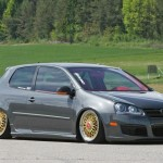 Grey VW Mk5 on BBS Super RS wheels