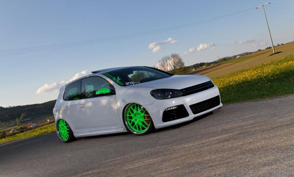 White Vw Mk6 Gti On Green Porsche Rs Rims 876 on vw golf mk4 gti