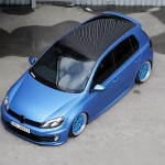 Metallic blue VW Mk6 with black roof