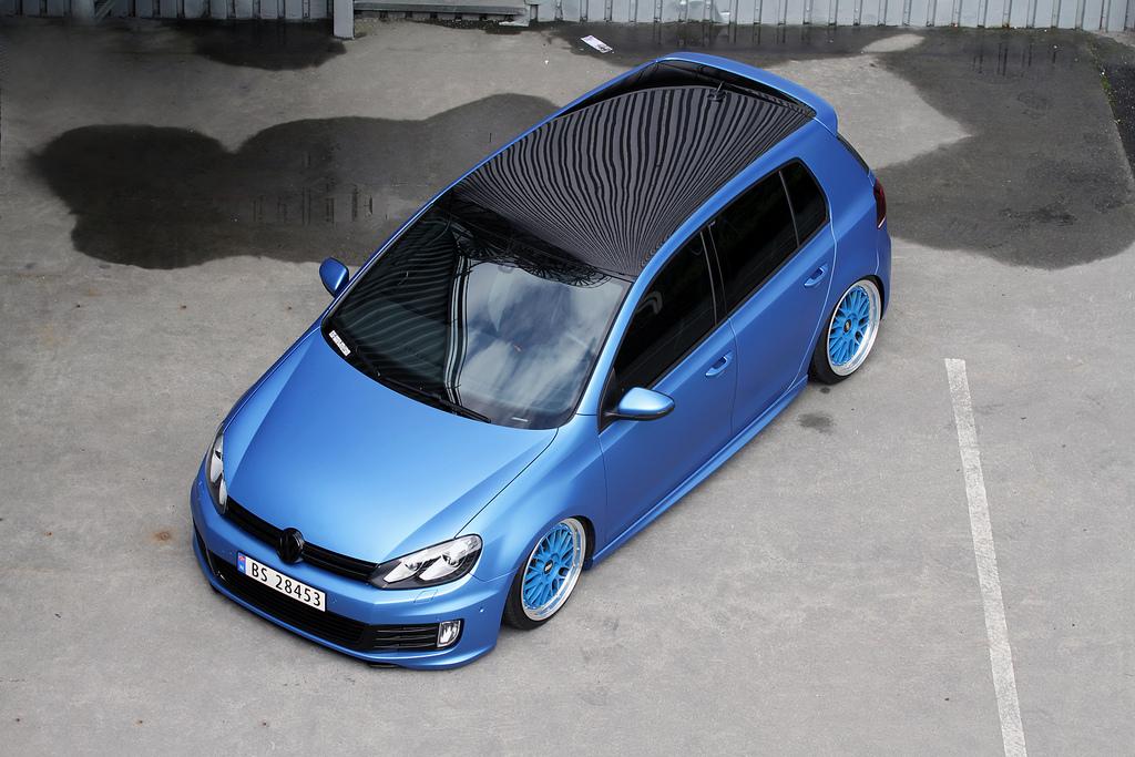 Metallic Blue Vw Mk6 With Black Roof Vw Golf Tuning