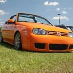 Orange VW Golf Mk3 Cabrio